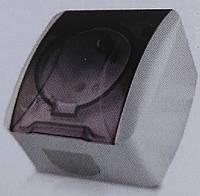 Розетка накладная 1-я с заземлением +крышка LEMANSO Магнолия белая LMR2005