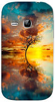 Чехол для Samsung gt-s6312/6310 galaxy young (Дерево)