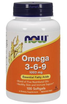 Омега кислоты, Now Foods, Omega 3-6-9, 1200mg, 90 sgel