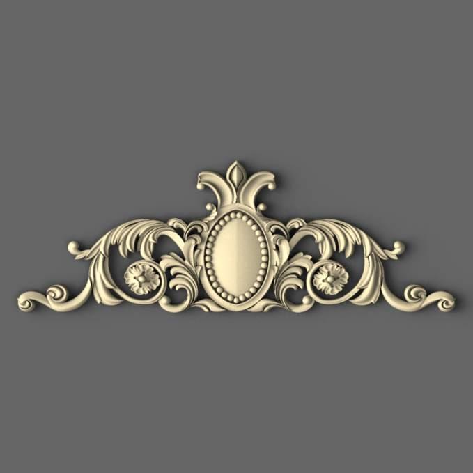 3Dдекор Корона з дерева 400х140