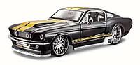 Автомодель Maisto 1:24 Ford Mustang GT 1967 Черный - тюнинг (31094 black)