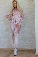 Стильный спортивный костюм из бархата в разных расцветках 276