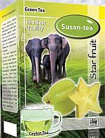 """Зеленый чай Susan tea """"Карамболь """" 100г"""