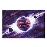 Светящиеся Картины Startonight Фиолетовая Вселенная Космос Пейзаж Печать на Холсте Декор стен Дизайн Интерьер