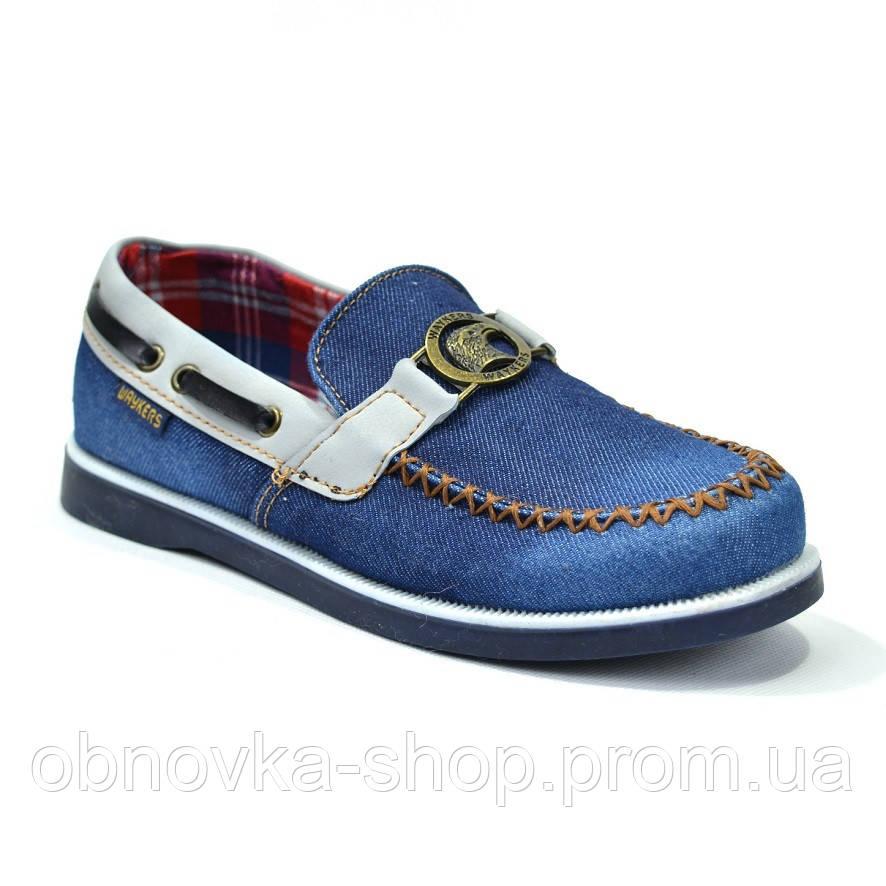 Мокасины подростковые джинсовые Waykers - Интернет-магазин одежды и обуви для всей семьи ObnovkA в Харькове