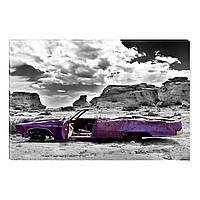 Светящиеся Картины Startonight Ржавый Автомобиль в Пустыне Печать на Холсте Декор стен Дизайн Интерьер