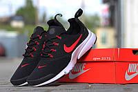 Кроссовки Nike (черные с красным)