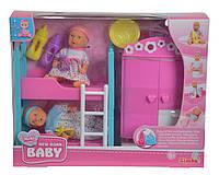 """Simba Кукольный набор """"Пупсы мини New Born Baby и спальная комната"""" (5036610)"""