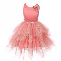 Нарядное короткое платье  3-12 лет (4 цвета), фото 1