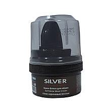 Крем-блеск для обуви SILVER темно-коричневый