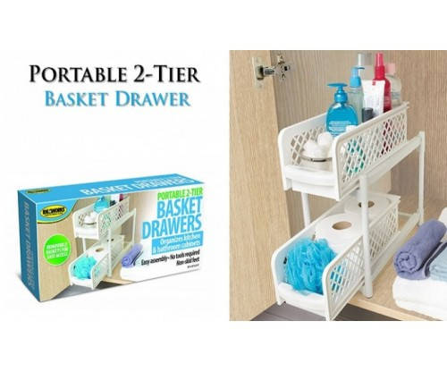 Органайзер portable 2 tier basket drawers , фото 2