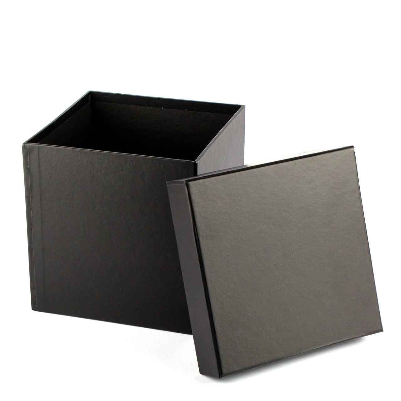 Подарочная коробка черная 16x16x16 см
