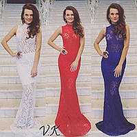 Гипюровое платье на выпускной