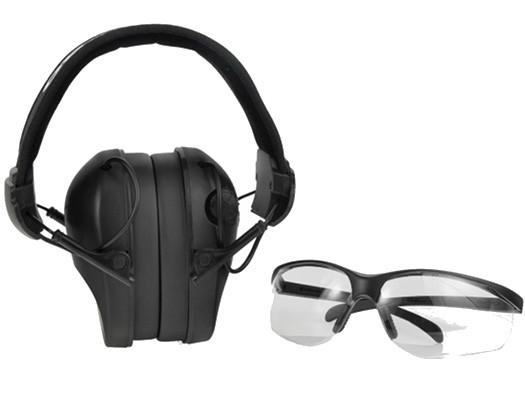 Наушники для стрельбы черные RealHunter ACTiVE + защитные очки