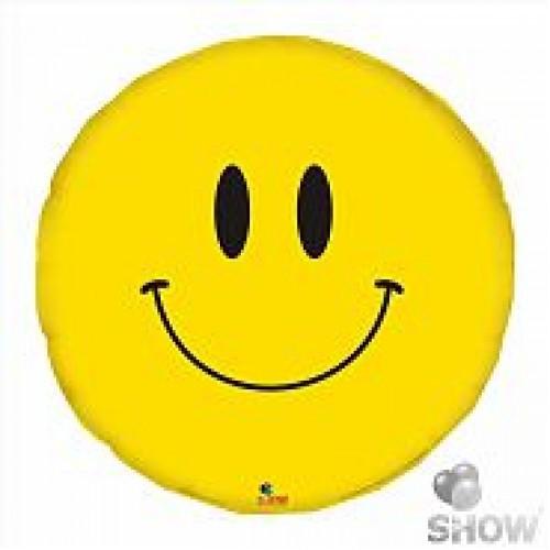 Фольгированный шар Смайлик круг 46см