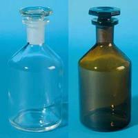 Бутыль  с пришлифованной пробкой, узкое горло, светлое и темное стекло