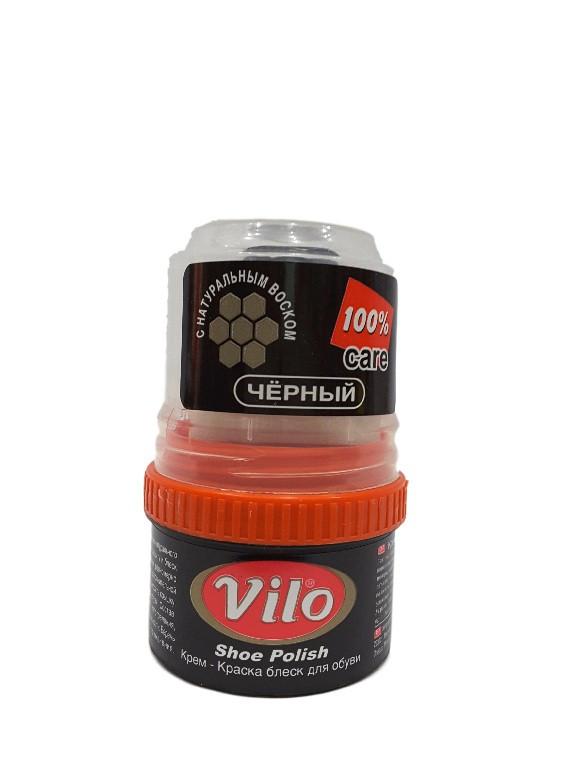 Крем-краска блеск для обуви Vilo черный
