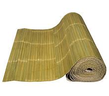 Бамбукові шпалери, блідо-зелені лак, п. 17мм