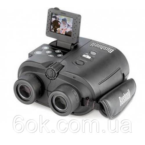 "180833 Бинокль Bushnell 8х32 ""Instant replay""с видеокамерой 3,2 мп"