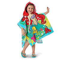 Детское махровое полотенце с капюшоном Русалочка Ариэль Ariel Hooded Towel for Kids