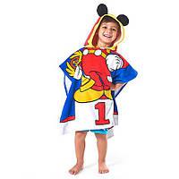 Детское махровое полотенце Минни Маус Mickey Mouse Hooded Towel for Kids - Personalizable, фото 1