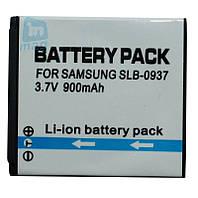 Аккумулятор для фотоаппарата Samsung SLB-0937, 900-1200 mAh.