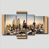 """Модульная картина """"Лондон. Полиптих""""  (950х1600 мм)  [4 модуля]"""