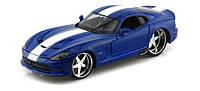 Автомодель Maisto 1:24 SRT Viper GTS 2013 Синий металлик тюнинг (31363 met. blue), фото 1