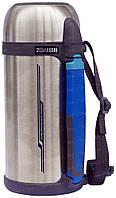 Термос ZOJIRUSHI SF-CС15XA 1.5L, серебро (складная ручка+ремешок)