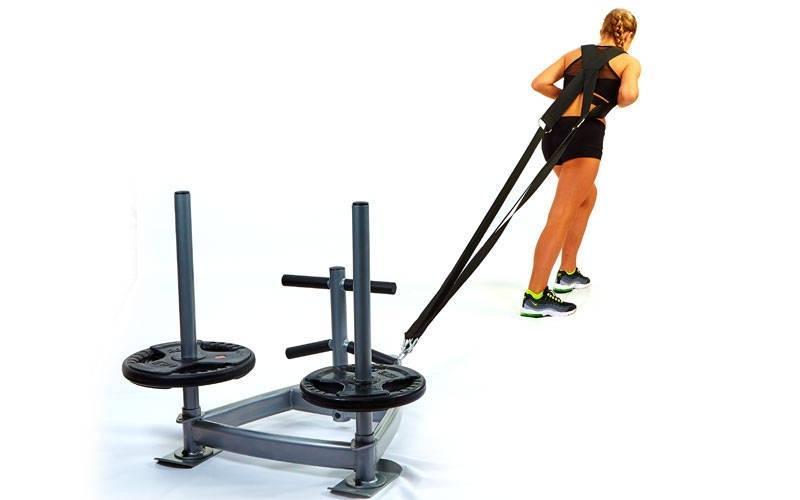 Сани тренувальні для кроссфита* петлі CF6236 SLED (метал підстава р-р 90х90х7осм, h-8ocm)