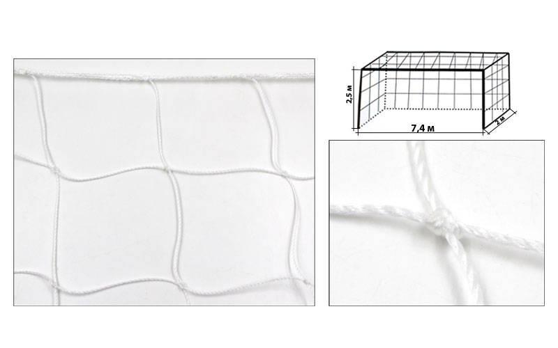 Сетка на ворота футбольные тренировочная узловая (2шт) (PP 2,5мм, яч. 12x12см, PVC чехол) - ADX.IN.UA в Одессе