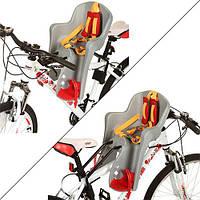 Велокресло детское PROFI M 3131 усиленный кронштейн, переднее крепление, ремни безопасности, 3 цвета