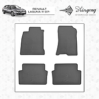 Комплект резиновых ковриков Stingray для автомобиля  RENAULT LAGUNA III 2007-     4шт.