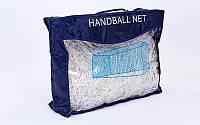 Сетка на ворота футзальные, гандбольные тренировочная (2шт) (PP 2,5мм, яч. 11x11см)