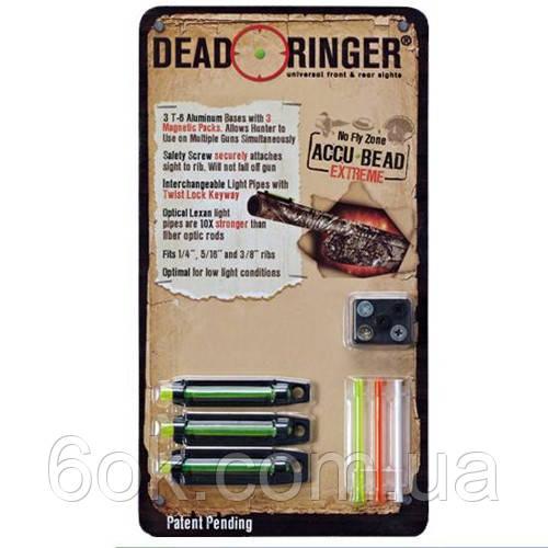 Мушка Dead Ringer Accu-Bead Extreme 3 мушки, магнитн, со сменными светонакоп. вставками, на планку 6.4, 8 и 9.
