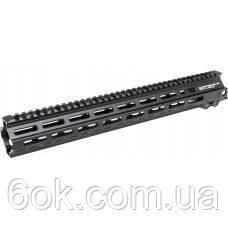 Цевье GEISSELE Super Modular Rail MK8 M-LOK 13'', Super Gas Block в компл. ц:черный
