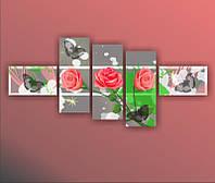 "Модульная картина ""Разлитые краски""  (640х1440 мм)  [5 модулей]"