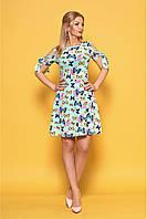 Симпатичное платье на лето мята размер:42,44,46