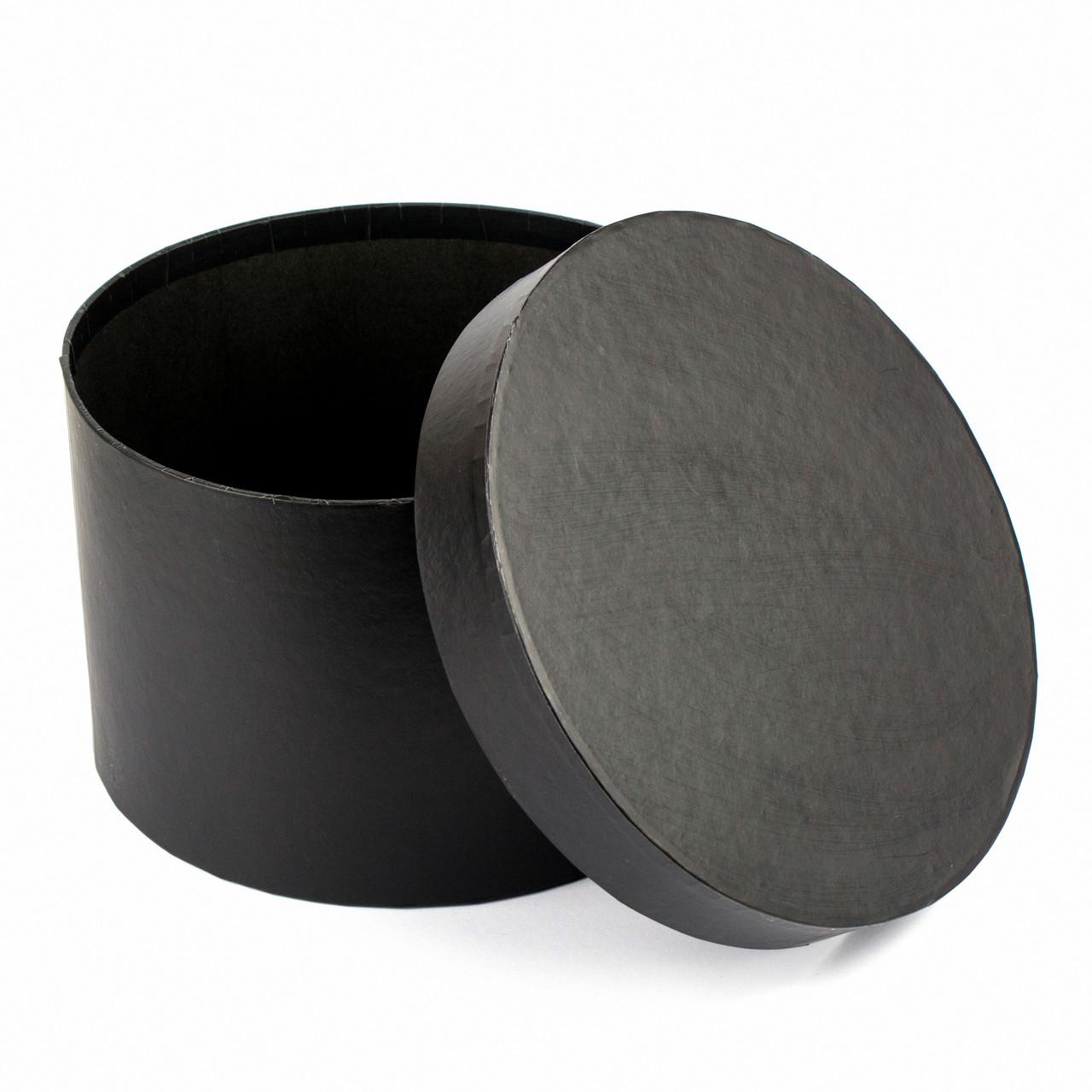 Подарочная коробка круглая черная 23.5x15 см