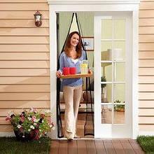 Антимоскитная сетка штора на дверь бежевая