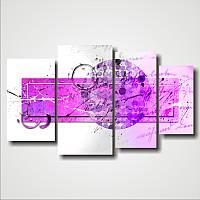 "Модульная картина ""Абстракция ""Письмо""  (800х1360 мм)  [4 модуля]"