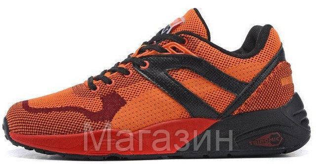 Мужские кроссовки Puma R698 Пума оранжевые