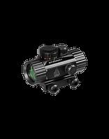 Коллиматорный прицел LEAPERS UTG New Gen 1x30 закрытый на Weaver, подсветка точка зелёная/красная (SCP-RD40RGW