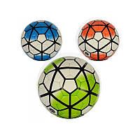 Футбольный мяч для детей Profi 3000-4ABC, размер 5, ПУ толщиной 1,5 мм, 4 слоя, 32 панели, 3 цвета