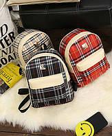Комфортный стильный яркий рюкзак с принтом в клетку. Качественный пошив. Доступная цена. Дешево.  Код: КГ1154