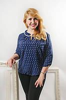 """Женская блузка """"Сабина"""", ткань - супер софт,  50-58 р-ры, 270/240 (цена за 1 шт. + 30 гр.)"""