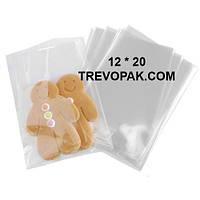 Прозрачные пакеты 12*20 для упаковки пряников, конфет (уп.100шт)