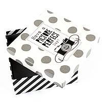 Коробка в горошек Фотоаппарат 10.5 x 10.5 x 4.7 см, фото 1