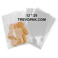 Прозрачные пакеты 12*25 для упаковки пряников, конфет (уп.100шт)
