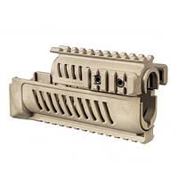 Цевье FAB Defense полимерное для АК47/74, 4 планки ц:desert tan (coyote tan)